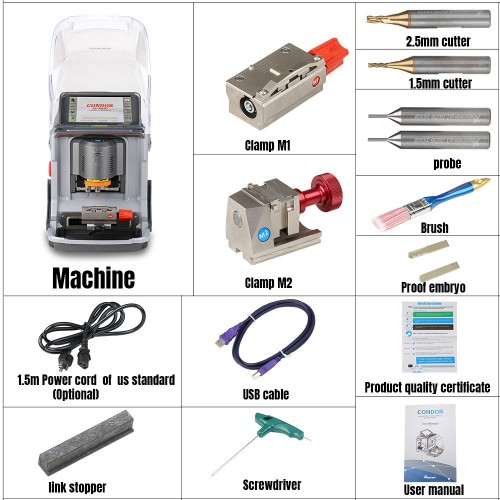 [UK/EU Ship No Tax] Xhorse Condor XC-Mini Plus Automatic Key Cutting Machine with 3 Years Warranty