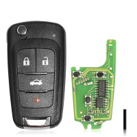 XHORSE Wired XKBU01EN Buick (Folding 4 Buttons) 5pcs/Lot Get 25 Bonus Points for Each Key