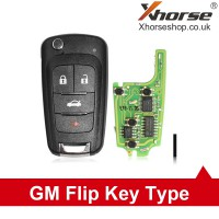 XHORSE XNBU01EN VVDI GM FLIP KEY TYPE UNIVERSAL REMOTE KEY 4 BUTTONS – WIRELESS PN 5pcs/lot