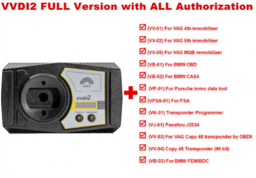 [£1093 UK Ship] V6.8.1 Xhorse VVDI2 Full Version (Total 13 Functions Included No Need to Buy other Authorizaition)